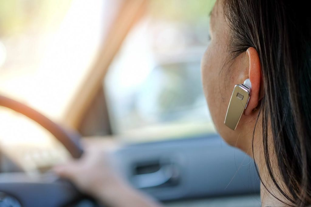 Talking on Bluetooth/Handsfree in car is illegal